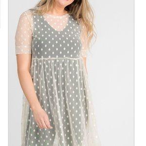 Agnes & Dora Short Mesh Easy Dress (Small)